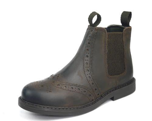 Frank James - Cheltenham JUNIOR Chocolate Brown Chelsea Boots
